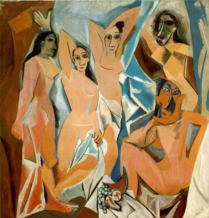 Les Demoiselles d'Avignon par Pablo Picasso, 1907, Paris