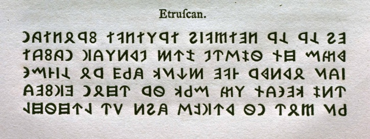 Etruscan, William Caslon – Image source: Typefoundry