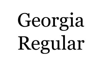 1993: Georgia, dessiné par Matthew Carter, destiné à la lecture sur écran informatique. Il y a de grandes chances que vous ayez lu ce texte grâce à lui.